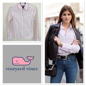 Vineyard Vines Button Up Preppy Blouse | B20-13